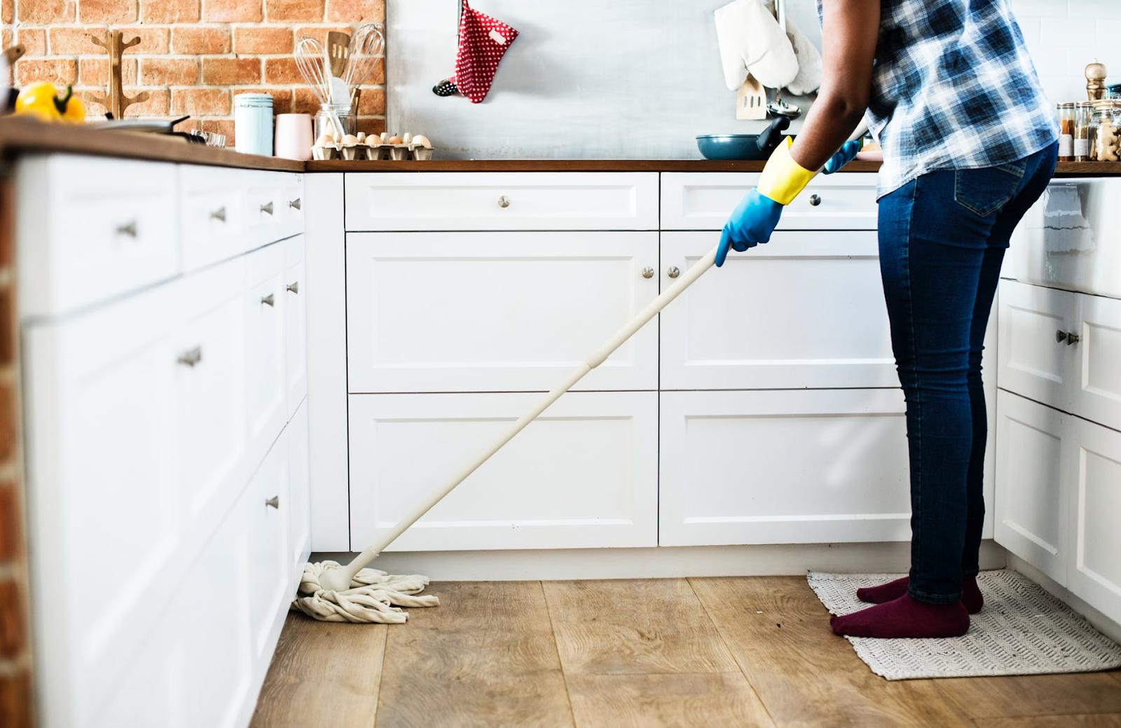 como fazer mudança para apartamento - limpeza